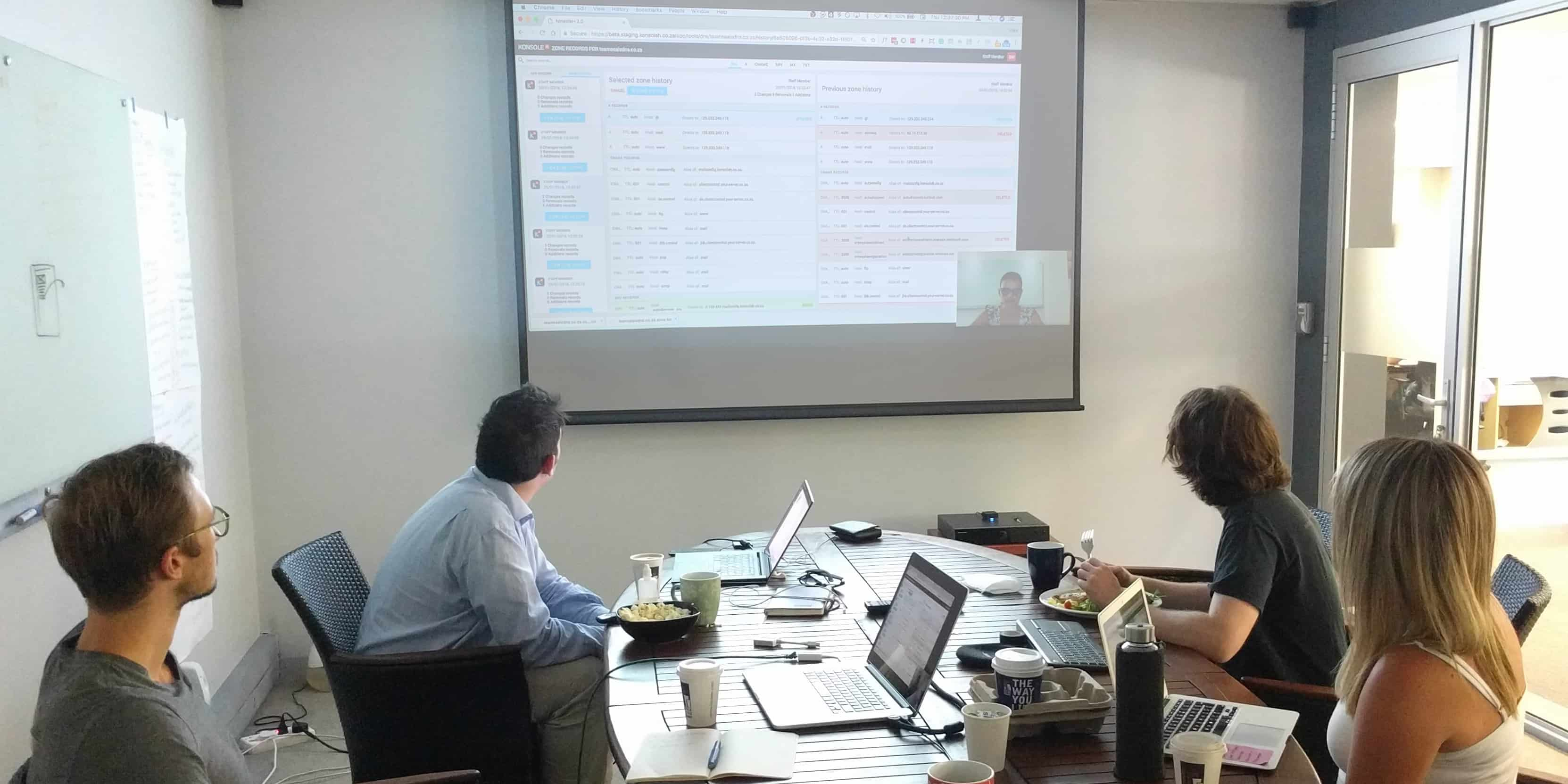 Usability testing at a client's office