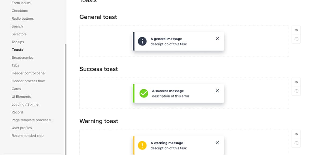 Example of a design system