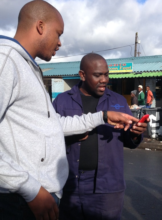 Customer research in a township